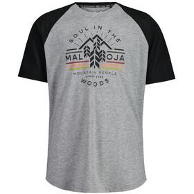 Maloja BlaubeereM. Short Sleeve Multisport Jersey Men, szary/czarny
